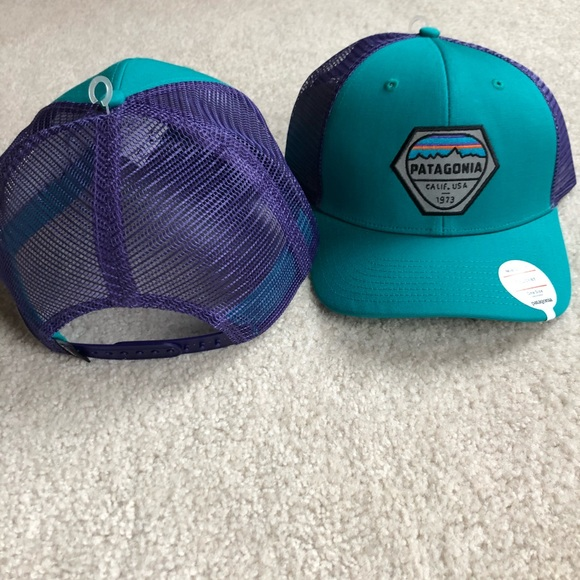 NWT teal and purple mid crown Patagonia hat  NWT